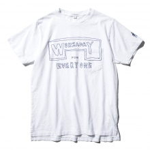 ENGINEERED GARMENTS / エンジニアドガーメンツ | Printed Crossover Neck PocketTee - Workaday for Everyday - White