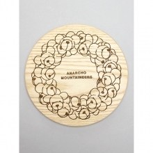....... RESEARCH | Anarcho Cups 036 - Wood Lid (for Solo) / Bear Wreath - Beige