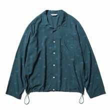 WELLDER / ウェルダー | Drawstring Shirt - Gray Green