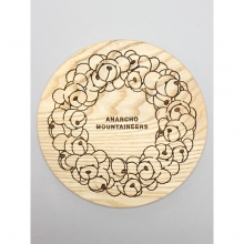 ....... RESEARCH | Anarcho Cups 035 - Wood Lid (for Plate) / Bear Wreath - Beige
