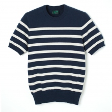 Stevenson Overall Co | Short Sleeve Border Knit - BK - Navy