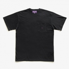 NEPENTHES / ネペンテス | NEPENTHES Purple Label - N Emb. Pocket Tee - Black ★