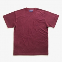 NEPENTHES / ネペンテス | NEPENTHES Purple Label - N Emb. Pocket Tee - Burgundy ★