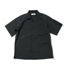 UNIVERSAL PRODUCTS / ユニバーサルプロダクツ | OPEN COLLAR SHIRT - Black