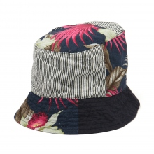 ENGINEERED GARMENTS / エンジニアドガーメンツ | Bucket Hat - Hawaiian Floral Java Cloth - Navy ☆