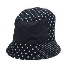 ENGINEERED GARMENTS / エンジニアドガーメンツ | Bucket Hat - Big Polka Dot Broadcloth - Dk.Navy ☆