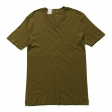 N.HOOLYWOOD / エヌハリウッド | 17-6125 V NECK T-SHIRT - Earth Brown