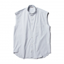 AURALEE / オーラリー | WASHED FINX TWILL STRIPE SLEEVELESS SHIRTS (レディース) - Wide Stripe ☆