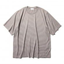 URU / ウル | CREW NECK S/S KNIT / 14G PLAIN STICHES - Ebony