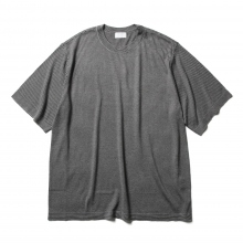 URU / ウル | CREW NECK S/S KNIT / 14G PLAIN STICHES - Charcoal