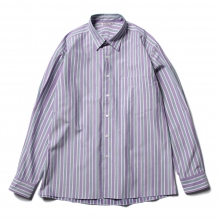 AURALEE / オーラリー | WASHED FINX TWILL STRIPE SHIRTS - Purple Stripe