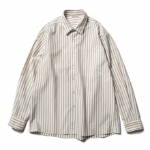AURALEE / オーラリー | WASHED FINX TWILL STRIPE SHIRTS - White Stripe