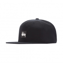 STUSSY / ステューシー | Stock Rubber Patch Cap - Black ★