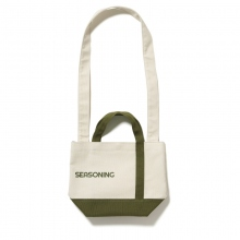 SEASONING / シーズニング | MINI TOTE BAG - White