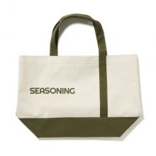 SEASONING / シーズニング | BIG TOTE BAG - White