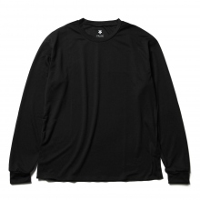DESCENTE PAUSE / デサントポーズ | ZEROSEAM L/S T - Black