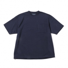 Living Concept / リビングコンセプト | HARD COTTON CREW NECK T-SHIRT - Navy ★