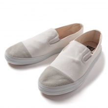 MACCHERONIAN / マカロニアン | 4001SK CAPTOE SLIP-ON SHOES - White