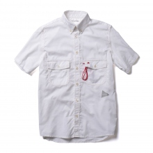 【Point 10% 4/28まで】and wander / アンドワンダー | dry ox short sleeve shirt (M) - White