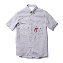 and wander / アンドワンダー | dry ox short sleeve shirt (M) - Gray