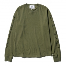 HABANOS / ハバノス | MILITARY PRINT L/SL Tee (NORMAL) - Khaki