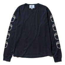 HABANOS / ハバノス | MILITARY PRINT L/SL Tee (NORMAL) - Navy