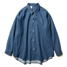 N.HOOLYWOOD / エヌハリウッド | 1201-SH07-051-pieces BIG SHIRT - Navy