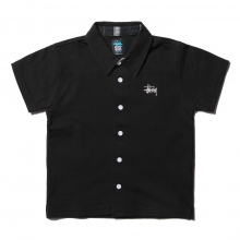 STUSSY / ステューシー | Kids Plaid Pique Shirt - Black