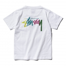 STUSSY / ステューシー | Kids Checker Stock Pocket Tee - White