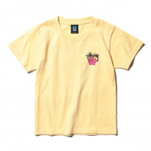 STUSSY / ステューシー | Kids Cali Rose Tee - Pale Yellow ★