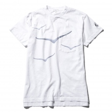 ENGINEERED GARMENTS / エンジニアドガーメンツ | Printed Cross Crew Neck T-Shirt - Hoka - White