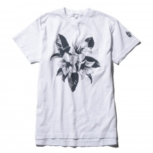 ENGINEERED GARMENTS / エンジニアドガーメンツ | Printed Cross Crew Neck T-Shirt - Floral - White