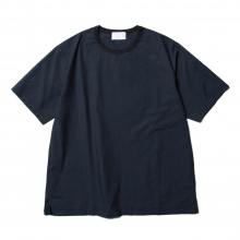 URU / ウル | CREW NECK S/S TEE / COTTON TYPEWRITER - Navy