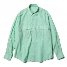 Porter Classic / ポータークラシック | ROLL UP STRIPE SHIRT - Green