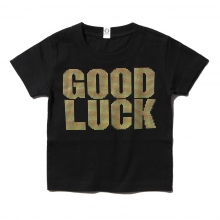 GOODENOUGH FOR KIDS / グッドイナフ フォー キッズ | PRINT TEE - GOOD LUCK (KIDS) - Black