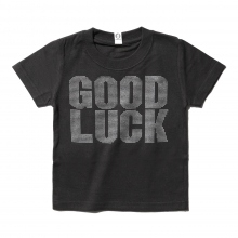 GOODENOUGH FOR KIDS | PRINT TEE - GOOD LUCK (KIDS) - Charcoal / Monotone