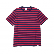 BEDWIN / ベドウィン | S/S BORDER T 「EARNIE」 - Red