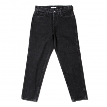 Living Concept / リビングコンセプト | 5POCKET TAPERED DENIM PANTS / BLACK BIO WASH - Black ★
