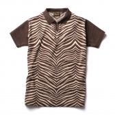Stevenson Overall Co|Short Sleeve Knitted Shirt - KS1 - Brown