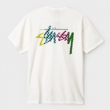 STUSSY / ステューシー | Checker Stock Pigment Dye Pocket Tee - Natural