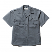 NEON SIGN / ネオンサイン | WORKERS SHIRT H/S - Green