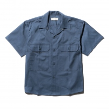 NEON SIGN / ネオンサイン | WORKERS SHIRT H/S - Blue