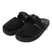 NEPENTHES | Suicoke × NEPENTHES Purple Label - Split Toe Sandal w/ A-B Vibram - Neoprene - Black