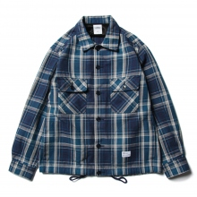 BEDWIN / ベドウィン | HEAVY FLANNEL CHECK JACKET 「KAY」 - Blue