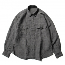 Porter Classic / ポータークラシック | ROLL UP BAMBOO LINEN SHIRT - Gray