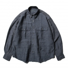 Porter Classic / ポータークラシック | ROLL UP BAMBOO LINEN SHIRT - Navy