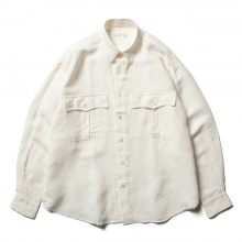 Porter Classic / ポータークラシック | ROLL UP BAMBOO LINEN SHIRT - White