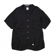 BEDWIN / ベドウィン | S/S OPEN COLLAR SHIRT OW 「ROGERS」 - Black