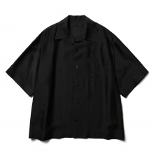 th / ティーエイチ | Open collar Shirt - Black