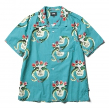 STUSSY / ステューシー | Skull Pattern Shirt - Teal